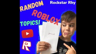 WHATS BEHIND THE ENVELOPE CHALLENGE! Funny roblox games with Rockstar Rhy!