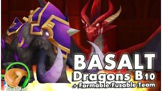 summoners war dragons b10 basalt farmable fusable team