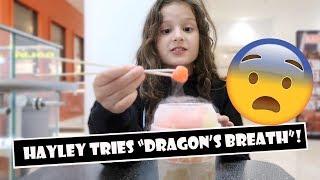 Hayley Tries 'Dragon's Breath' 🐉 (WK 383.4) | Bratayley