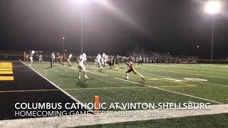 Football Highlights: Columbus Catholic at Vinton-Shellsburg