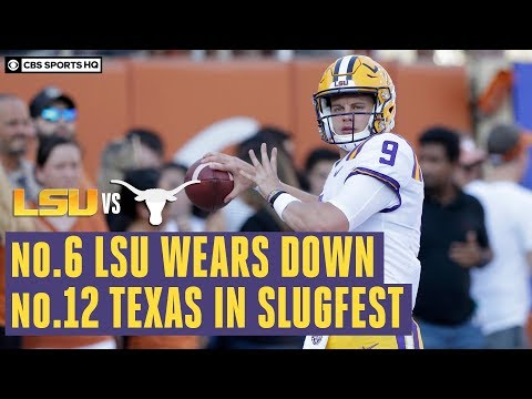 Dan's Football Page - JOE BURROW AND LSU OPEN UP A CAN OF OFFENSE ON TEXAS