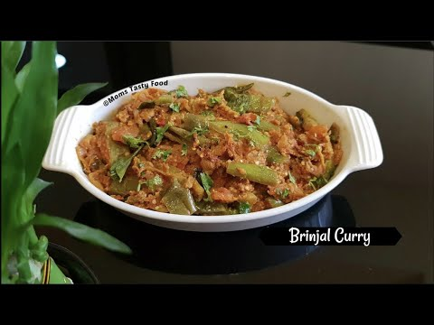 Brinjal Tomato Curry South Indian Vegetarian Curry Recipes For Lunch Side Dish For Chapati Rice