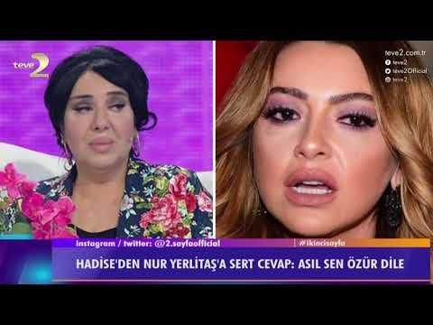 2. Sayfa: Hadise, Nur Yerlitaş'ın açıklamalarına sert çıktı!