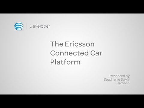 The Ericsson Connected Car Platform
