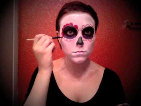 easy day of the dead makeup tutorial youtube