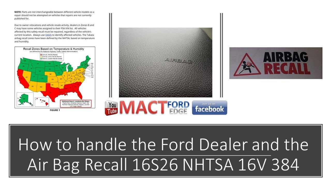How To Handle The Ford Dealer And The Air Bag Recall Sv