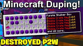 Destroying another P2W minecraft server with Duping