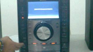 Mini System Sony Muteki Com Dvd-tela Lcd De 7 Polegadas/novo