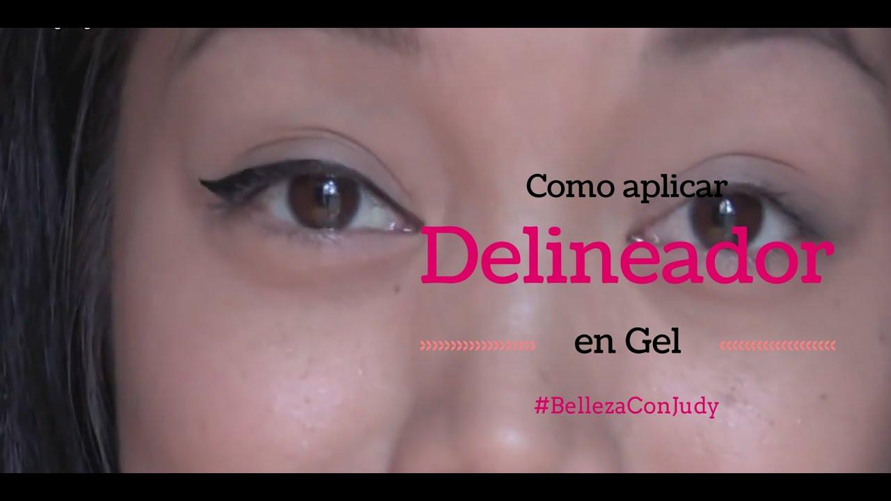 Como aplicar delineador en Gel | #BellezaConJudy - YouTube
