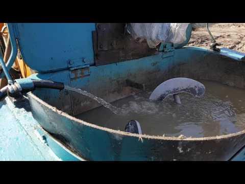 Замывка Роторного бетононасоса .