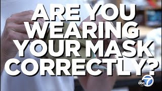 How to properly wear a face ma…