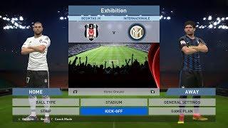 Besiktas JK vs Internazionale, BJK Vodafone Park, PES 2016, PRO EVOLUTION SOCCER 2016, Konami, PC
