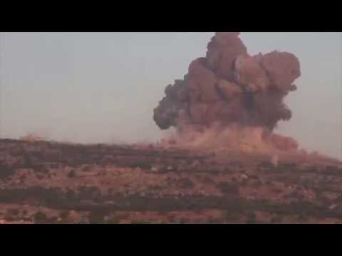 TR-3B Using High Energy Weapon in Syrian Conflict