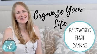 FREE Life Organizers | Passwords, Email & Budget