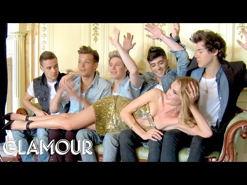 Glamour's One Direction Shoot with Rosie Huntington-Whiteley