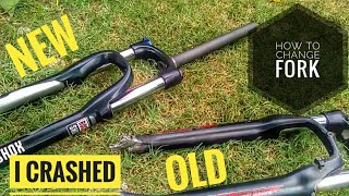 How to change front suspension Fork | Hindi | ICM