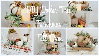 🍁DOLLAR TREE DIY FALL DECOR PUMPKIN PATCH CENTERPIECE Collab with Elaine Petrakis