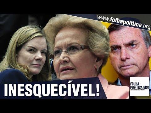 Gleisi Hoffmann diz que Bolsonaro se elegeu devido a golpe, provoca e recebe respostas inesquecíveis