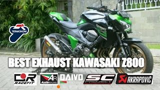 best exhaust kawasaki z800   sc project   akrapovic   termignoni   austin racing   racefit