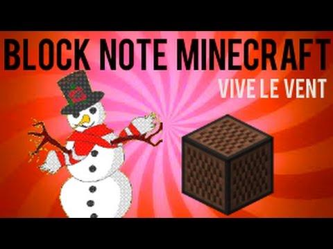 block note minecraft vive le vent youtube. Black Bedroom Furniture Sets. Home Design Ideas