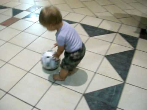 17 Month Baby Cooper Has Got A Kickety Kick Soccer Ball