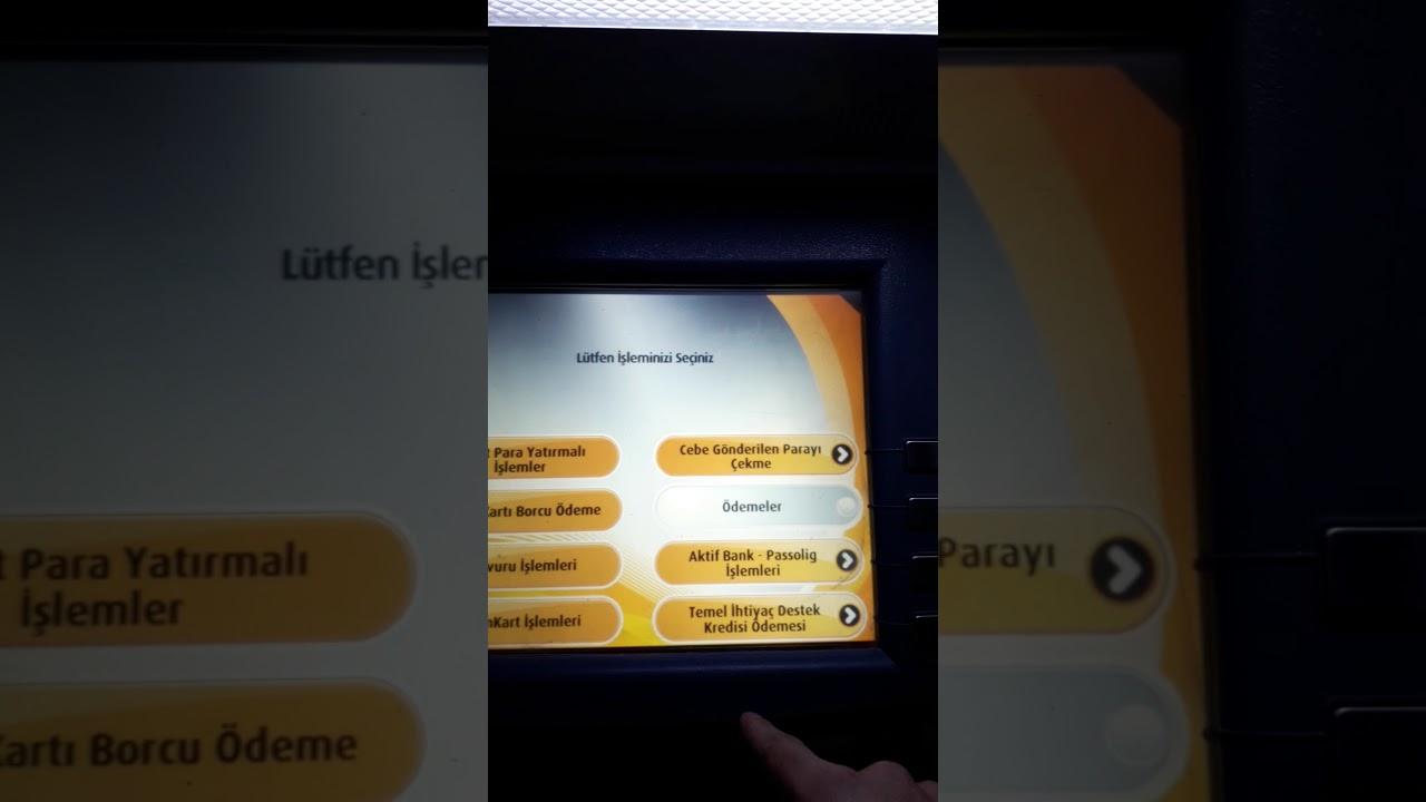 Vakıf bank kartsız işlemler seçenekleri,Vakifbank atm kartsiz işlem menüsü(NasılYapılır),Kartsız