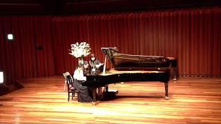 川本ピアノ、ピアノステーション ピアノ講師による連弾、美女と野獣です...