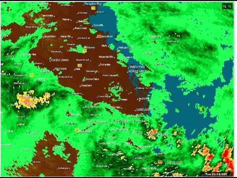 Brisbane Storm 30/8/2011 64km Radar