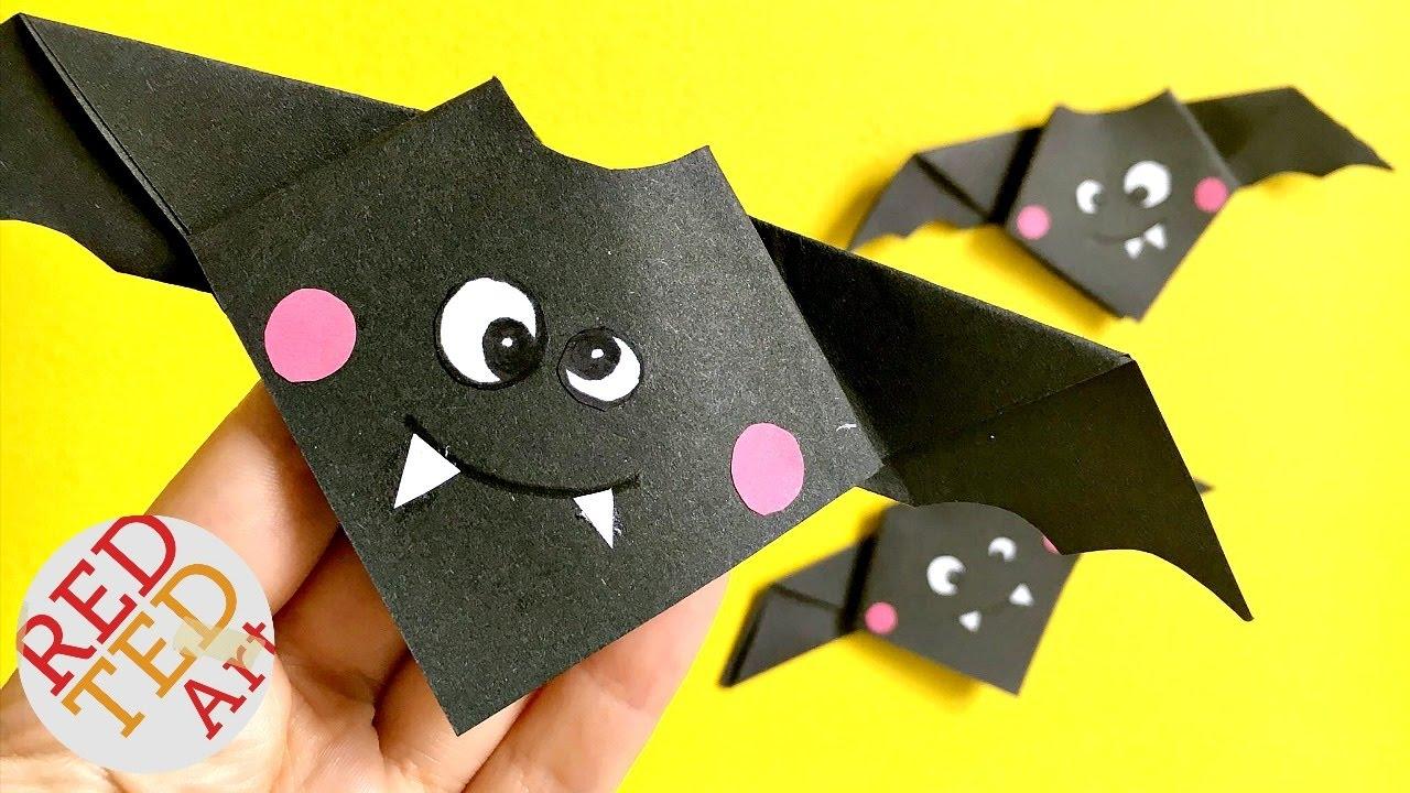 Origami Easy Animal Bat Cute Hallloween Diy Decor Paper Crafts You
