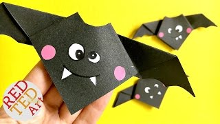 Origami Easy Animal Bat - Cute Hallloween DIY Decor - Paper Crafts