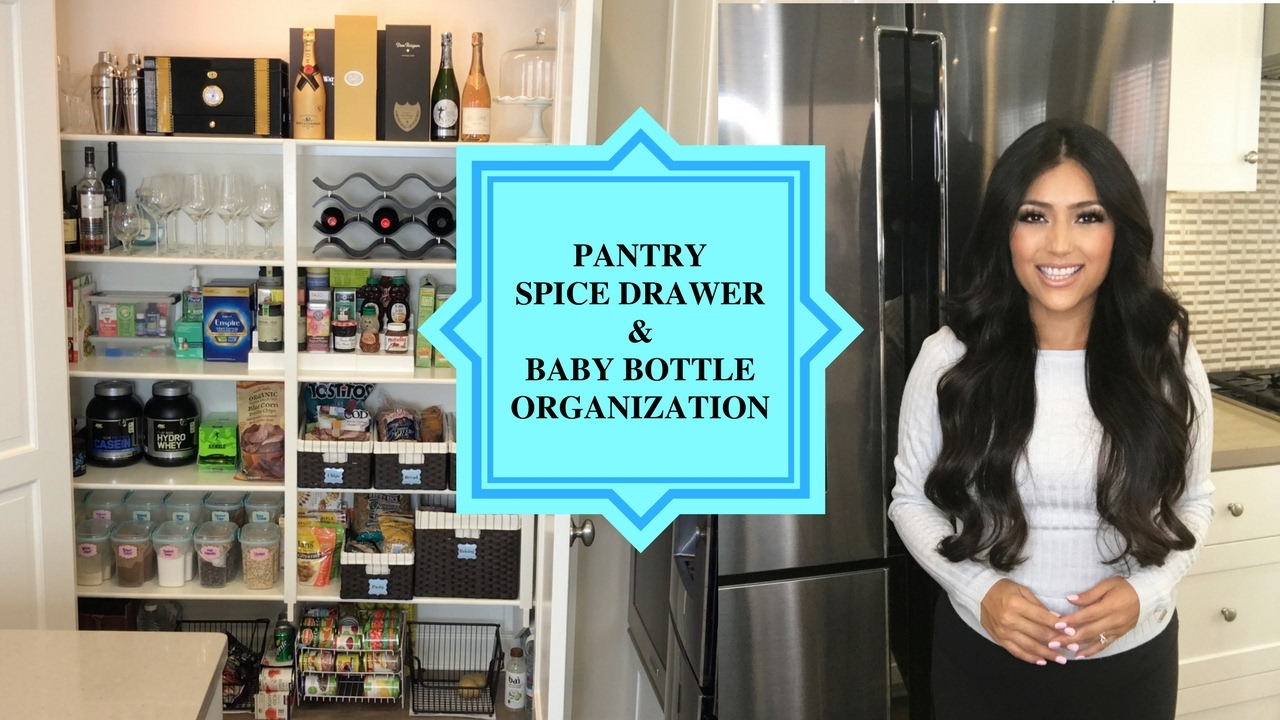 Updated Pantry, Spice Drawer & Baby Bottle Organization - YouTube