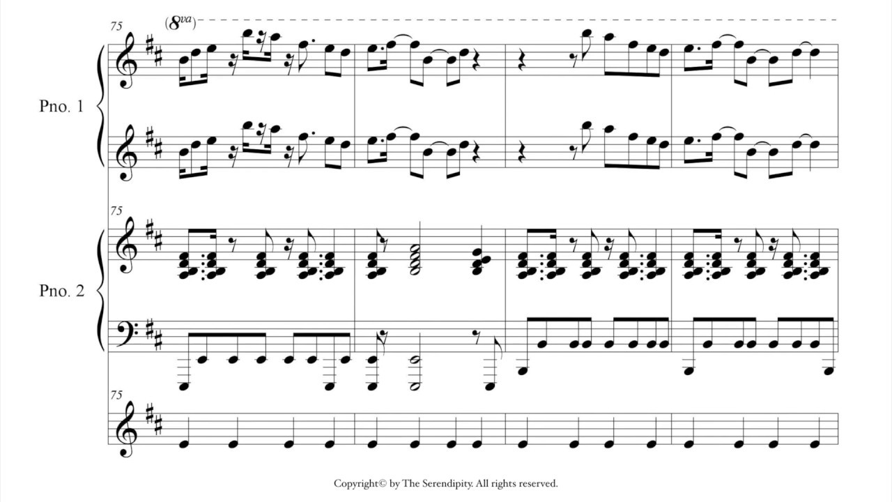 Moves Like Jagger For 1piano 4 Hands Sheet Music Youtube