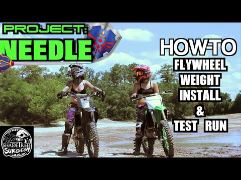 how-to:-dirtbike-flywheel-weight-install-and-test-run-|-project-needle