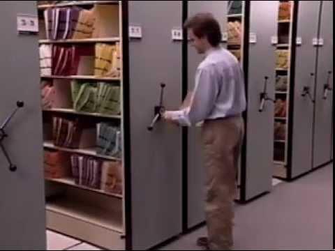 Hand Crank Rolling Shelves Mechanical Assist Shelving On