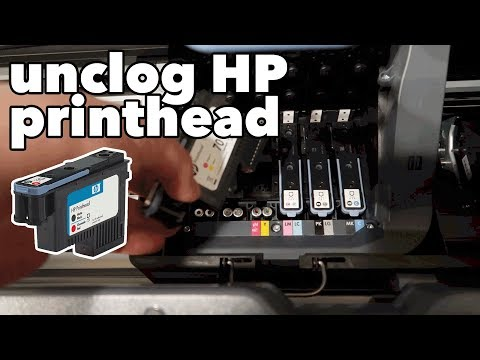 How to clean a clogged HP Designjet Printhead