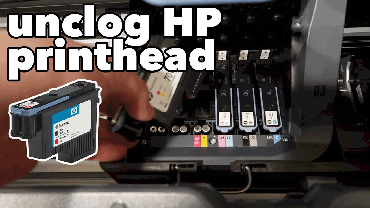 How To Clean A Clogged Hp Designjet Printhead Youtube