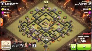 Clash of Clans - Ataque Lavaloon na guerra contra o clã Hades Exiles