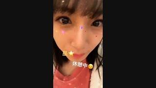 201711 HKT48 朝長美桜 インスタストーリーまとめ @miochan_0517.