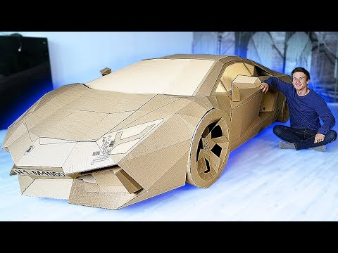 how to make a lamborghini out of cardboard