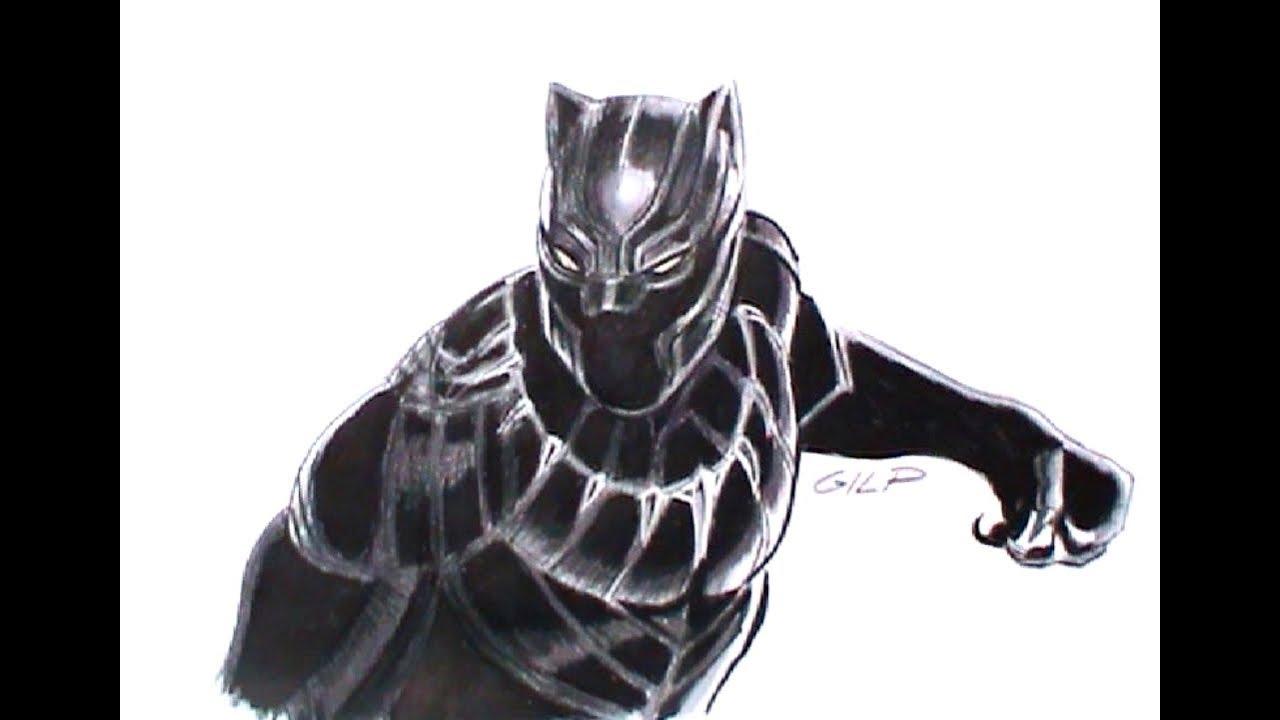 Come disegnare e colorare Black Panther - YouTube
