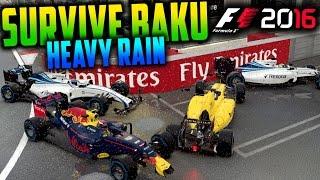 SURVIVE BAKU (HEAVY RAIN) - F1 2016 Game (Keyboard & No Map Challenge)