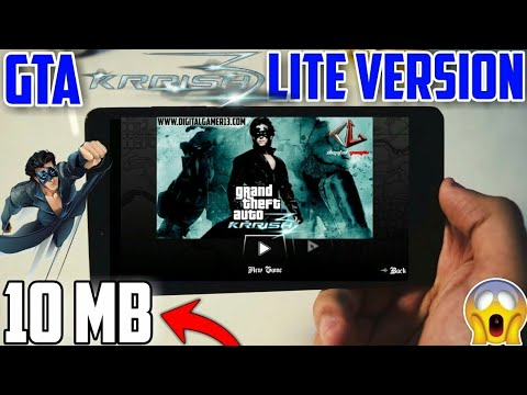 Gta Krrish 3 Mod for Android in Just 10 Mb by teachnical arjun    Highly Compressed For All GPU