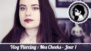 [Vlog] Piercing: Mes cheeks - Jour 1