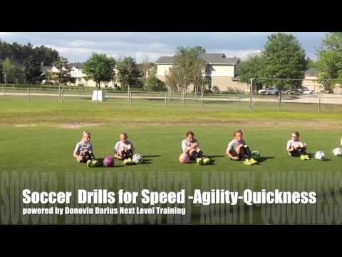 [Donovin Darius Sports Training Video] Soccer Drills and Skills for Speed   Agility   Quickness
