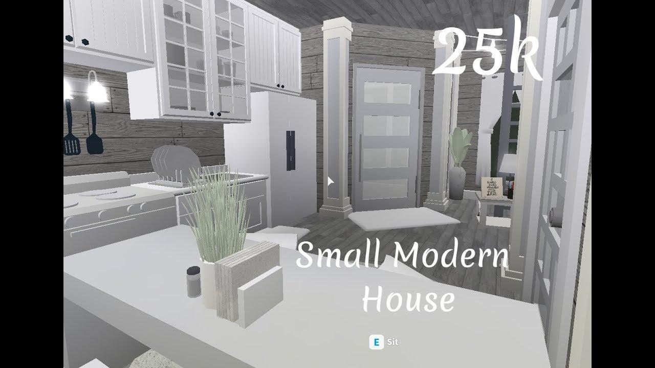 Bloxburg Small Modern House 25k Youtube