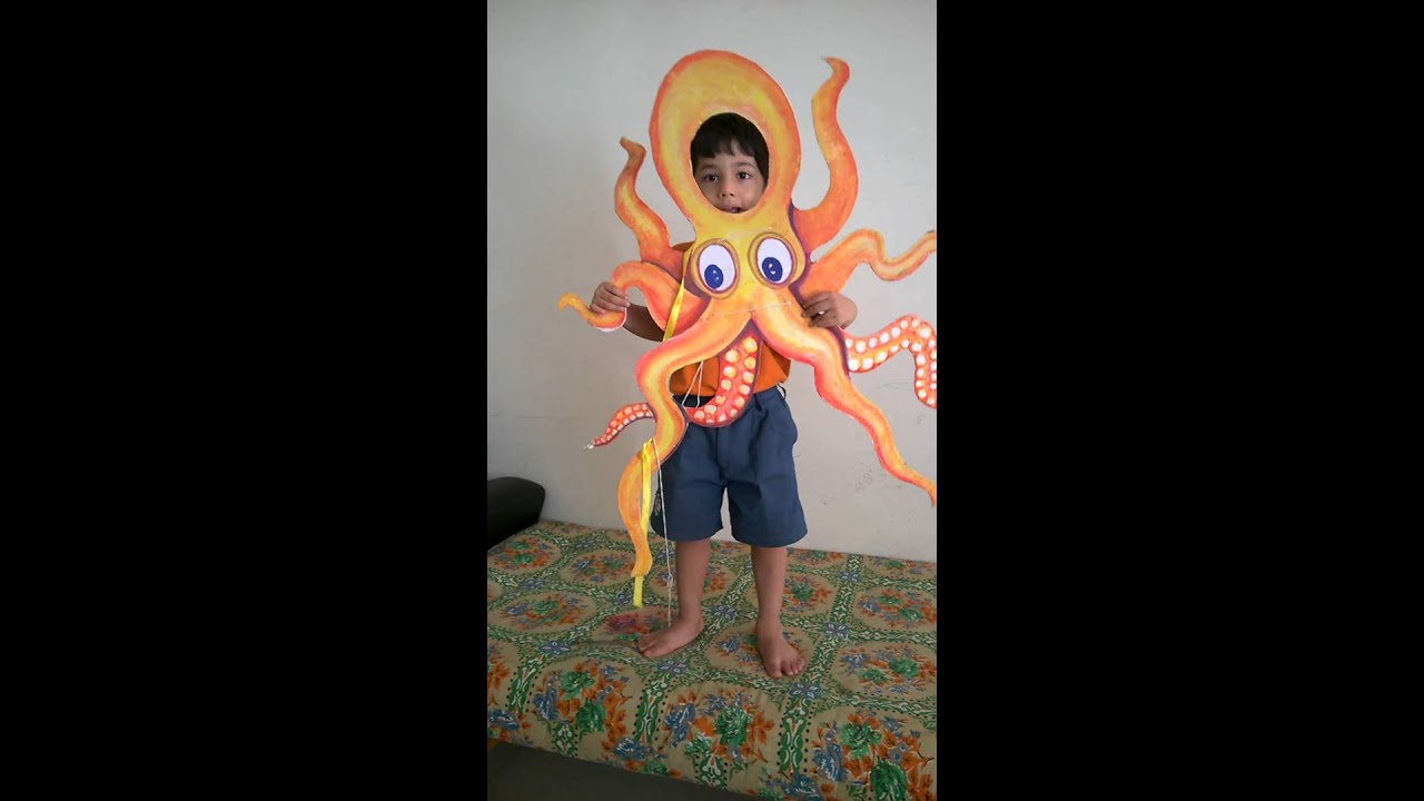 Viv fancy dress costume - octopus  sc 1 st  YouTube : sea creature costumes for kids  - Germanpascual.Com