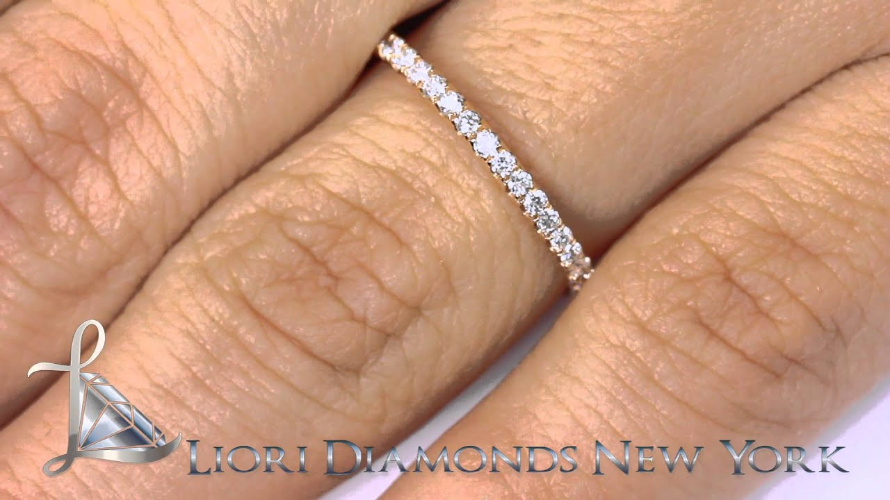 halo round stone center pin bands year wedding with anniversary band shank split