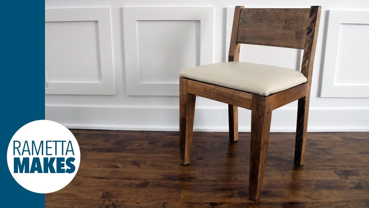 How To Make A Modern Wood Chair With Leather Seat Diy