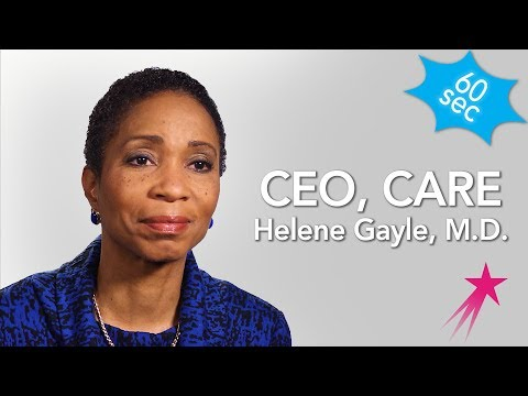 60 Seconds With a Nonprofit CEO: Dr. Helene Gayle - YouTube