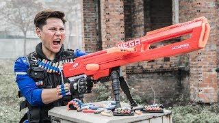 LTT Game Nerf War : Couple Winter Warriors SEAL X Nerf Guns Fight Criminal group Guard Arsenal
